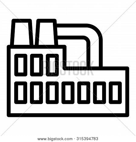 Recycling Plant Icon. Outline Recycling Plant Vector Icon For Web Design Isolated On White Backgroun