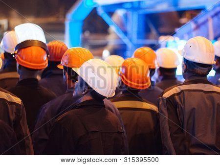 Strike Of Workers In Heavy Industry. Metallurgical Industry.