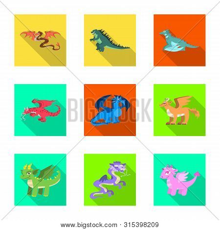 Vector Illustration Of Legend And Halloween Sign. Collection Of Legend And History Stock Symbol For