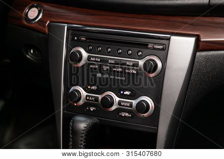 Novosibirsk, Russia - July 12, 2019:   Nissan Teana,close-up Of The Dashboard, Adjustment Of The Blo