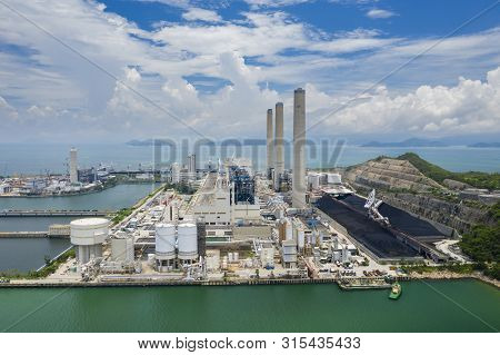 Aerial View Of A Coal-fired Power Station