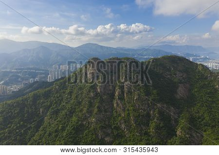 Aerial View Of Lion Rock In Hong Kong
