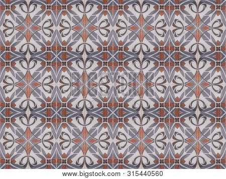 Turkish Traditional Ornamental Decorative Tiles. Seamless Pattern Abstract Background Concept