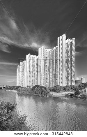 Public Estate And River In Hong Kong City