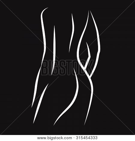 Naked Woman Body, Vector Graphic Design Element