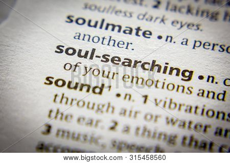 Word Or Phrase Soul-searching In A Dictionary