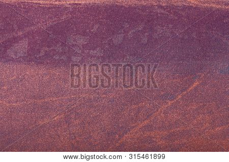 Abstract Art Background Dark Red With Purple Color. Multicolor Painting On Canvas. Fragment Of Bronz