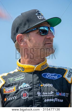 July 19, 2019 - Loudon, New Hampshire, USA: Clint Bowyer (14) takes to the track to practice for the Foxwoods Resort Casino 301 at New Hampshire Motor Speedway in Loudon, New Hampshire.