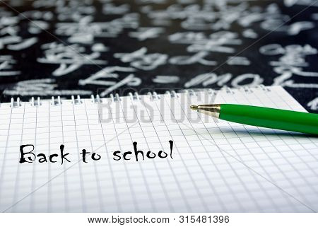Back To School. The Concept Of The Beginning Of The School Year