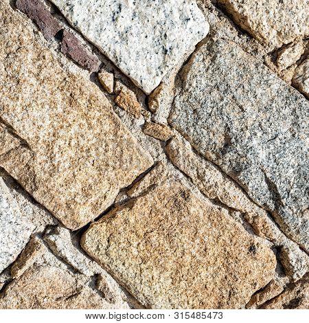 Texture Of An Irregular Stone Wall. Background.