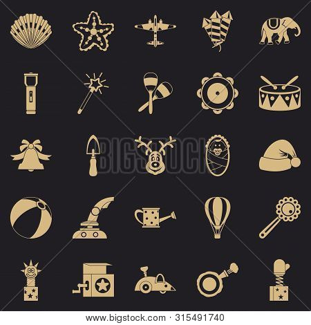 Obsolete Toy Icons Set. Simple Set Of 25 Obsolete Toy Icons For Web For Any Design