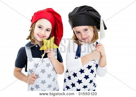 cook and chef in a magic restaurant