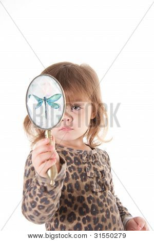 Child with a mirror