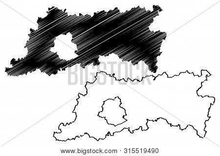 Flemish Brabant Province (kingdom Of Belgium, Provinces Of Belgium, Flemish Region) Map Vector Illus