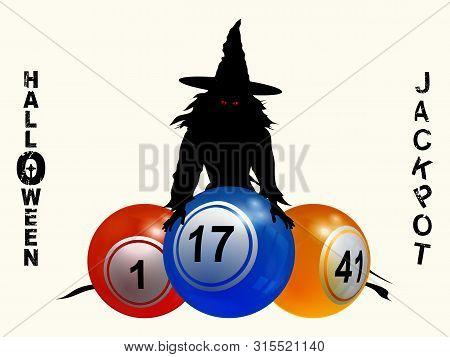 3d Illustration Of Halloween Bingo Lotto Background With Bingo Lottery Balls Decorative Halloween Ja