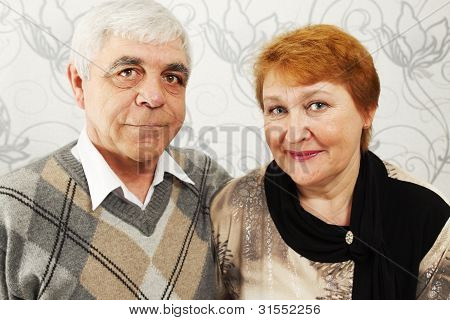 Smiled Elderly Pair