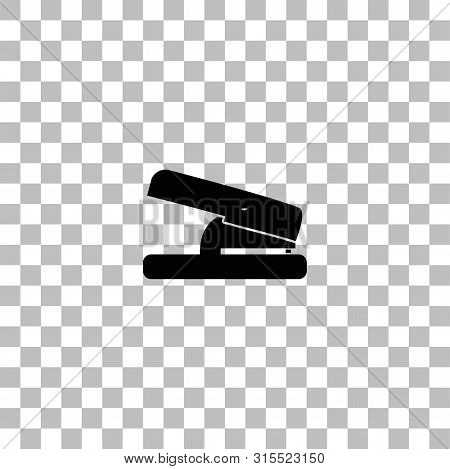 Hole Puncher. Black Flat Icon On A Transparent Background. Pictogram For Your Project