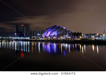 River Clyde night reflection