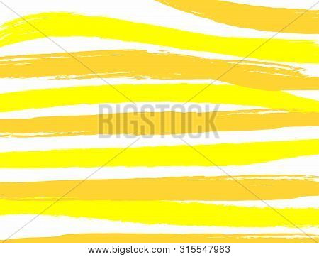Rectangular background with uneven stripes drawn by watercolour paint. Sketch, grunge, watercolor. Horizontal vector illustration. poster