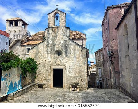 Korcula, Croatia - July 8th, 2019: The Alleged House Of Marco Polo In The Town And Island Of Korcula