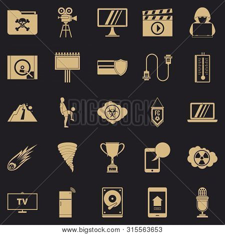 Televisor Icons Set. Simple Set Of 25 Televisor Icons For Web For Any Design