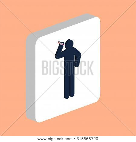 Smoker Man Simple Vector Icon. Illustration Symbol Design Template For Web Mobile Ui Element. Perfec