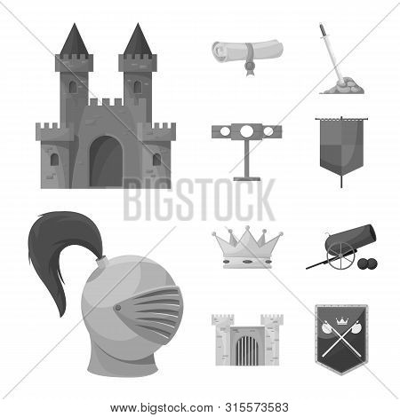 Vector Design Of Heritage And Ancient Symbol. Collection Of Heritage And Culture Stock Symbol For We