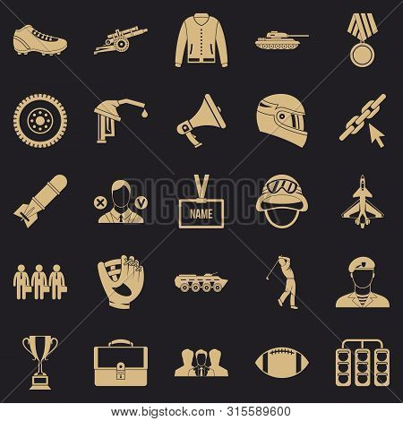 Conquest Icons Set. Simple Set Of 25 Conquest Icons For Web For Any Design