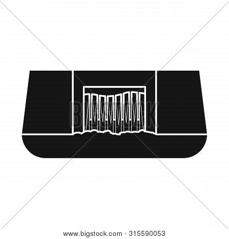 Vector Illustration Of Hydro And Station Icon. Collection Of Hydro And Dam Stock Symbol For Web.