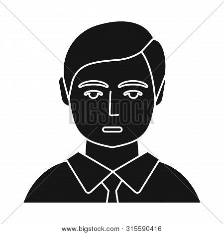 Vector Illustration Of Boy And Hairdo Icon. Collection Of Boy And Young Vector Icon For Stock.