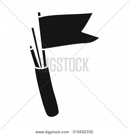 Vector Illustration Of Flag And Pennant Logo. Collection Of Flag And Naval Stock Vector Illustration