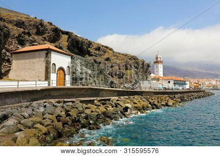 Beautiful View Of The Town Of Candelaria With The Basilica In The Background, Tenerife, Canary Islan