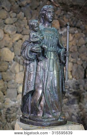 Tenerife, Spain - June 1, 2019: Statue Of Virgin Mary Or Our Lady Of Candelaria, Tenerife, Spain