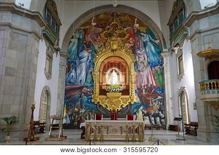 Tenerife, Spain - June 1, 2019: Basilica Of Our Lady Of Candelaria, Indoor View Tenerife, Spain