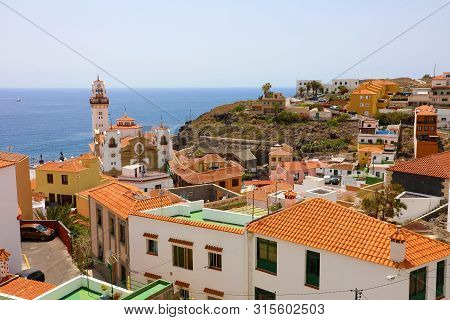 Panoramic View Of Candelaria Village On Tenerife, Canary Islands, Spain