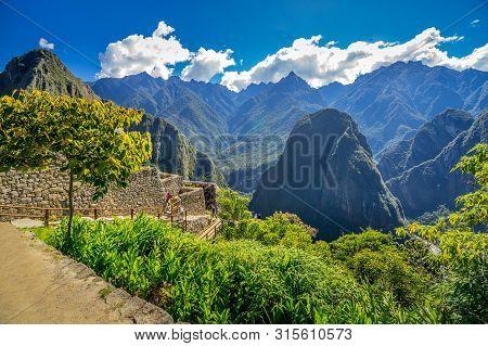 Panorama View Of Ancient City - Machu Picchu In Peru