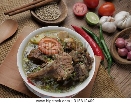 Sop Buntut Or Sop Tulang Sapi, Indonesian Oxtail Soup