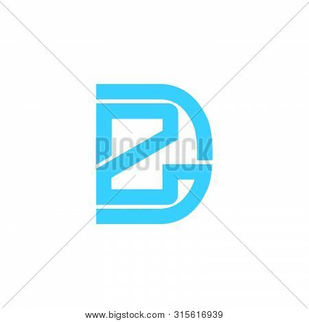 Abstract Letter Rd Geometric Line Logo Vector