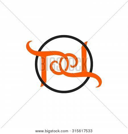 Letter Pd Linked Spiral Logo Vector Unique Unusual Simple Concept