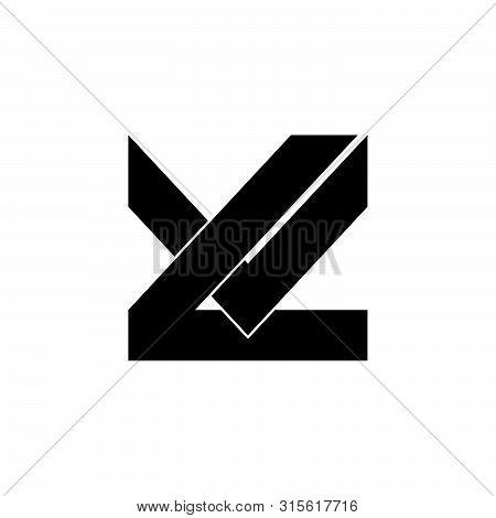 Letter Lv Simple Geometric Logo Vector Unique Unusual Simple Concept
