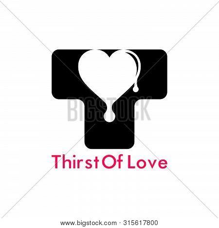 Letter T Thirst Of Love Symbol Logo Vector