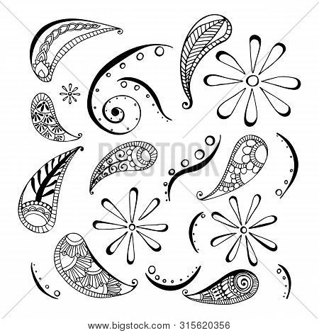 Pattern In Style Hand Draw, Doodle, Zentangl, India