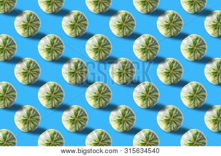 Vivid Fruit Pattern Of Fresh Watermelon Background