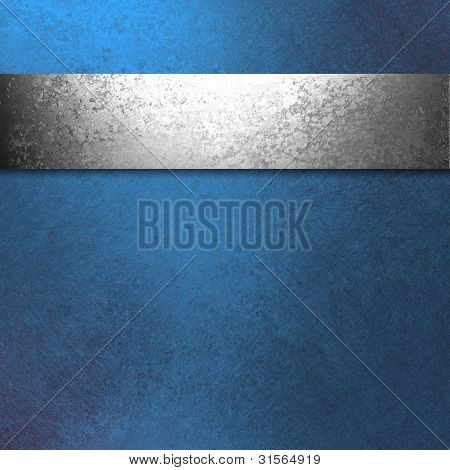 Blue Silver Background