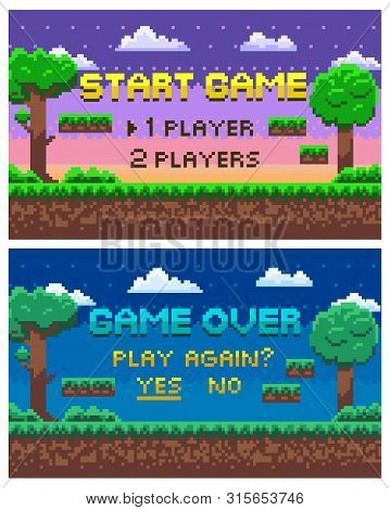Game Over Scenes For Fights And Places Of Leaves, Evening And Night Views, Players Option Between On