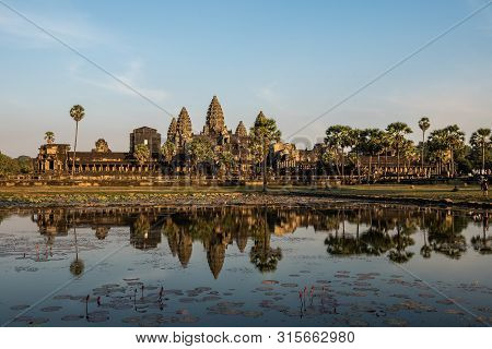 Angkor Wat Is A Temple Complex In Cambodia And The Largest Religious Monument In The World. Siem Rea