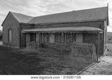St Kitts, South Australia, Australia - June 23, 2018:  Old Disused Farm Cottage, Now Used As Feed St