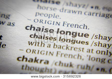 Word Or Phrase Chaise Longue In A Dictionary
