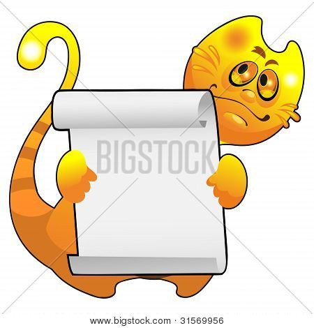 Smiling Red Cat with a frame