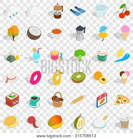 Infusion Icons Set. Isometric Style Of 36 Infusion Vector Icons For Web For Any Design